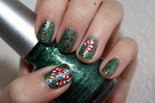 Christmas Nail Art Designs: GREEN Christmas nails