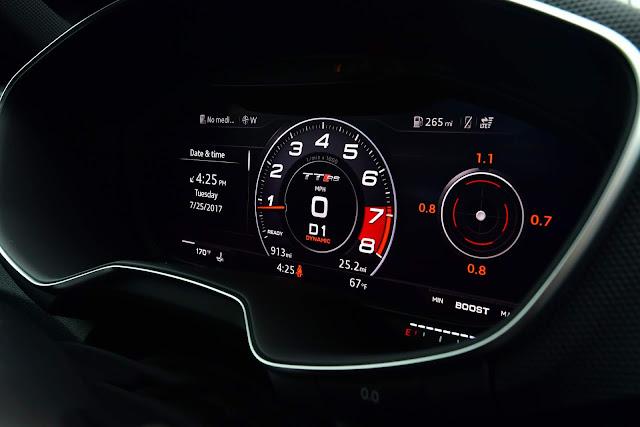 Audi TT-RS 2018 - interior - Virtual Cockpit
