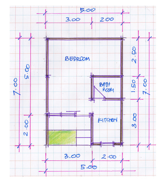 layout of house plan A-08b