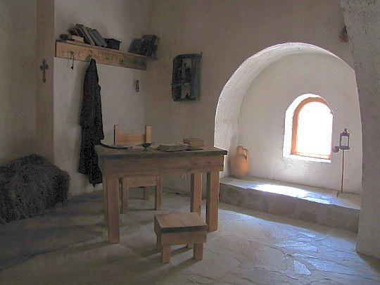 Cela klasztorna Paisjusza Chilendarskiego.