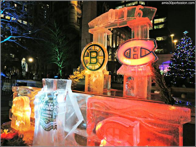 Esculturas de Hielo en Boston: Equipos Deportivos