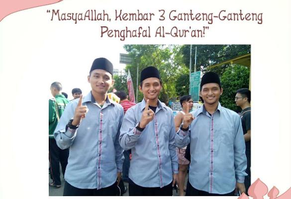 Masya Allah!! 3 Laki-Laki Kembar Berwajah Tampan Ini Semuanya Penghafal Al-Qur'an