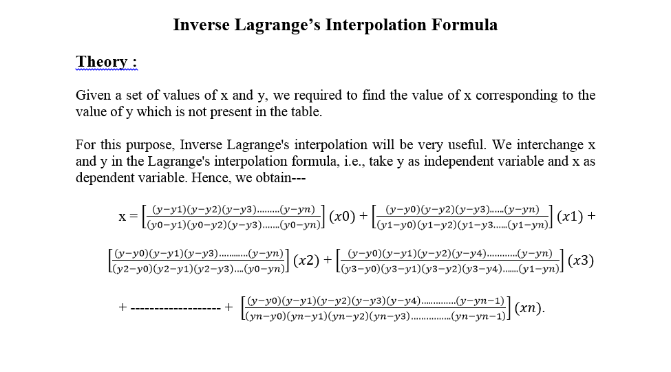 Smart Education World Inverse Lagrange Interpolation Formula Theory Algorithm And Flowchart With A Lot Of Example Graph functions, plot points, visualize algebraic equations, add sliders, animate graphs, and more. inverse lagrange interpolation formula
