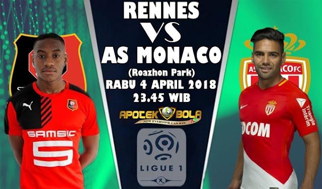 Prediksi Rennes vs Monaco 4 April 2018