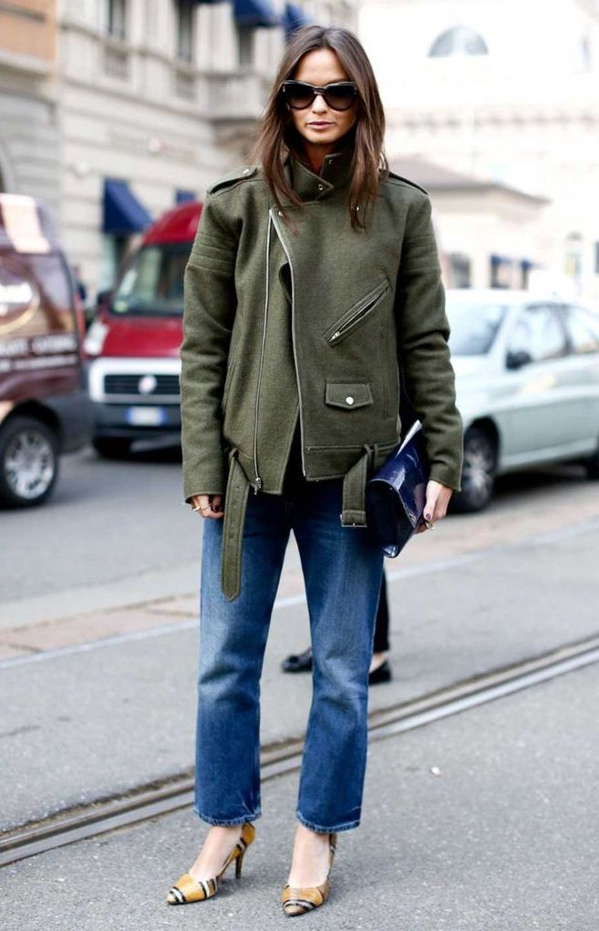 A Cool Take on How to Wear an Oversized Moto Jacket for Fall — Columbine Smille Street Style