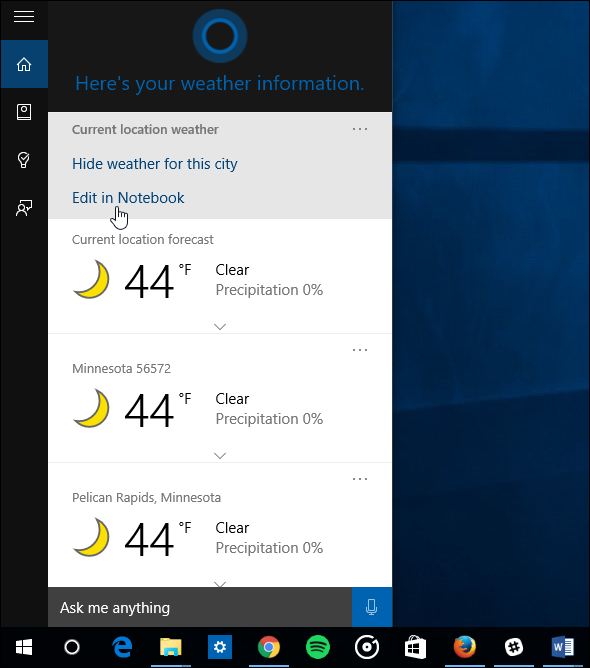 How to Make Cortana Show Weather for Multiple Cities on Windows 10