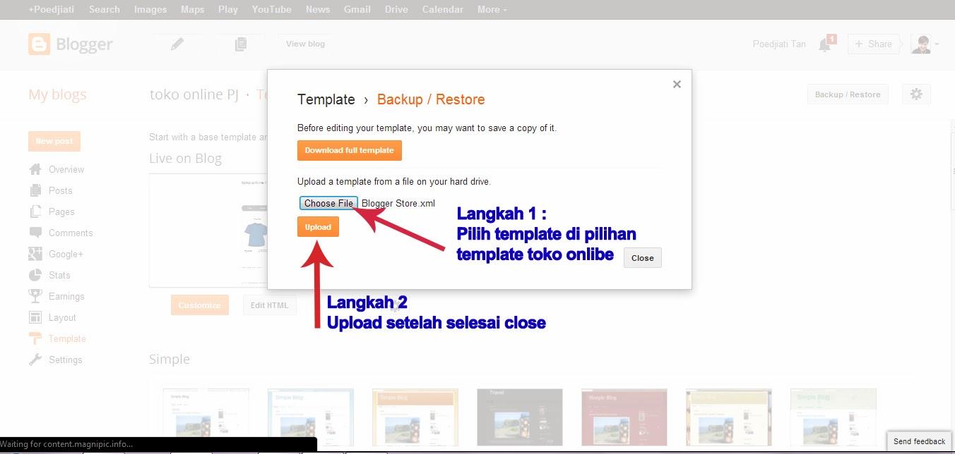 template toko online blogspot cara mudah membuat toko online dengan blogspot