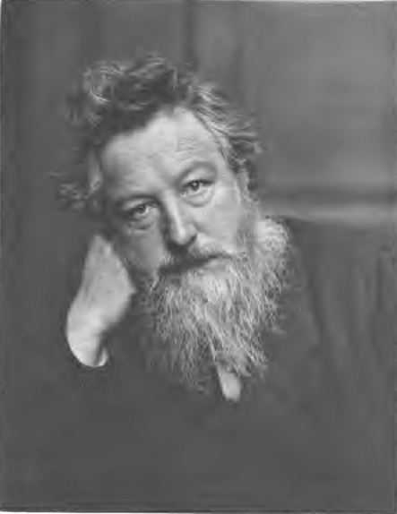 Portrait of William Morris, aged 53. First published 1899 (photo c. 1887)