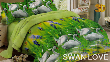Sprei Red Rose Swan Love
