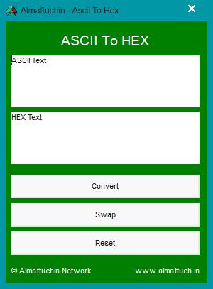 Almaftuchin ascii x hex converter v1 2 erchima net for Hex to ascii