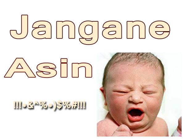 gambar muka bayi menguap lucu