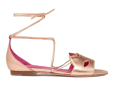 Oscar Tiye Spring Summer 2016 Kitty Flat Rose Gold