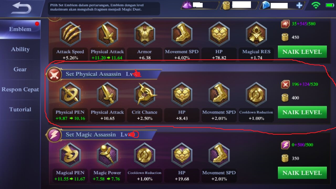 Build Item / Gear / Peralatan Hero ALUCARD di Mobile Legend