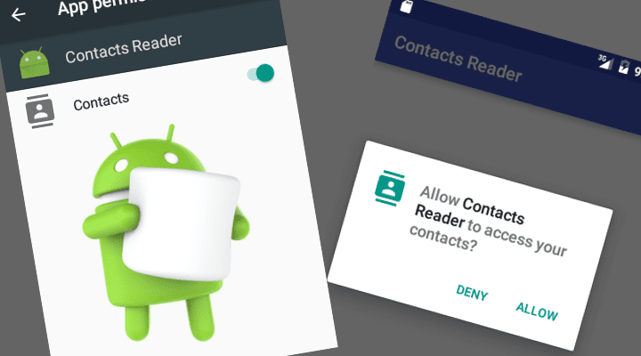 Android 6 0 Runtime Permission Model