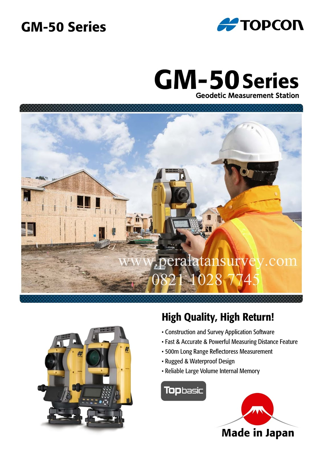Brosur Total Station Topcon GM-50 GM-52 GM-55 Series