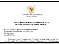 Pidato Menteri Pendidikan dan Kebudayaan dalam Peringatan Hari Pendidikan Nasional 2018