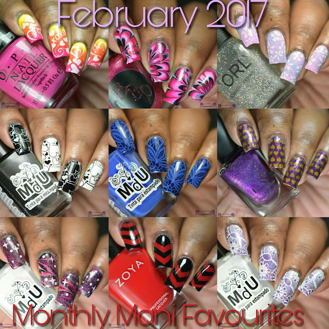 February 2017 Monthly Mani Favourites