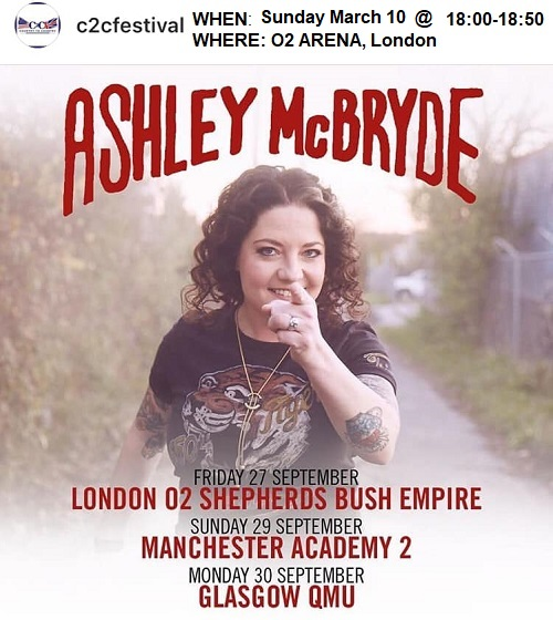 036077cb3a530 Ashley McBryde announces additional 2019 Sept Oct UK   Ireland dates