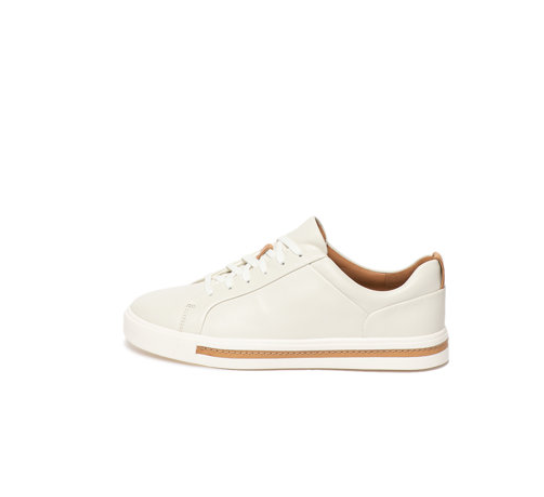 Pantofi sport de piele albi pentru femei firma Clarks