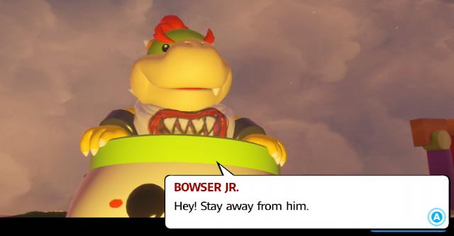 Mario + Rabbids Kingdom Battle Bowser Jr. appearance dialogue