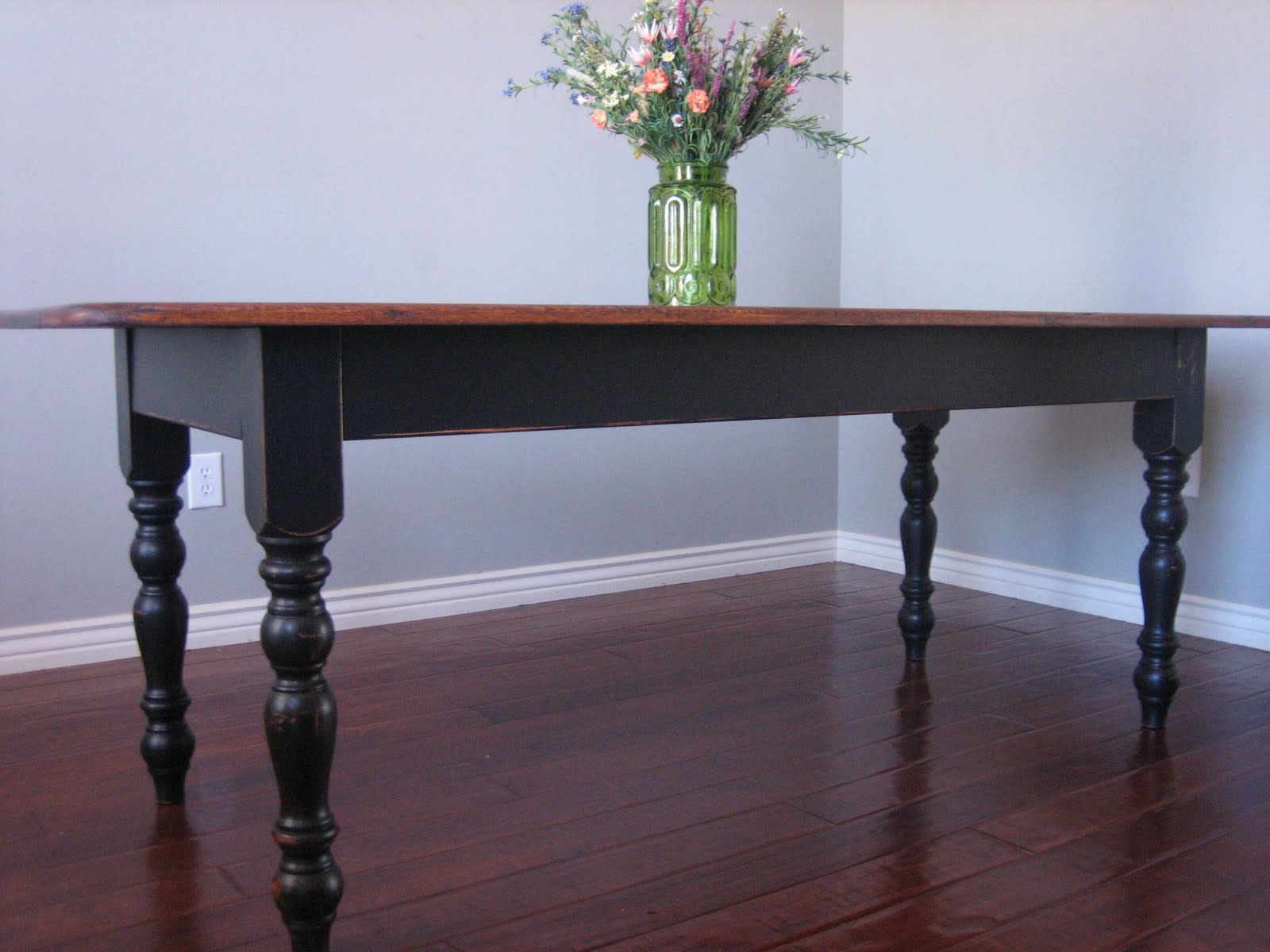 European Paint Finishes: Black Farmhouse Table