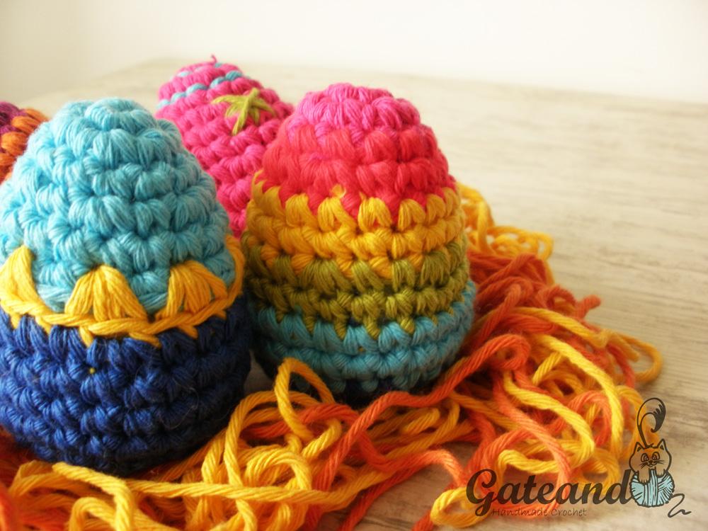 Patrón huevos de Pascua crochet