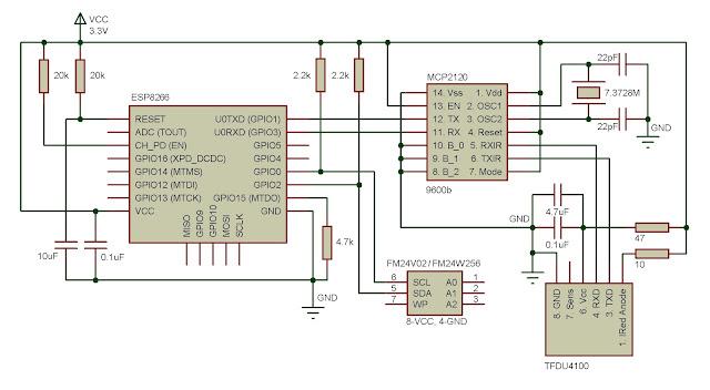 схема esp8266 irda