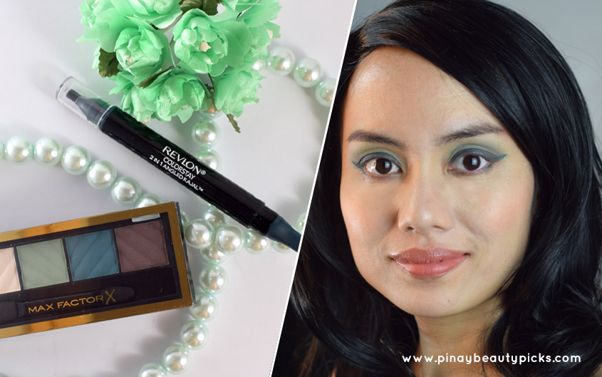 Max Factor Hypnotic Jade Matte Eyeshadow And Revlon Evergreen Eyeliner Review