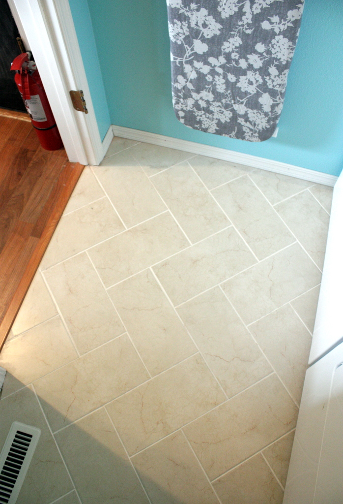 Sweet Something Designs Diy Herringbone Tile Floor