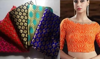 Banarasi Silk Fabric Material Blouses   Gorgeous Designer Banarasi Blouses