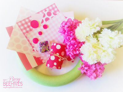 pinwheel wreath supplies