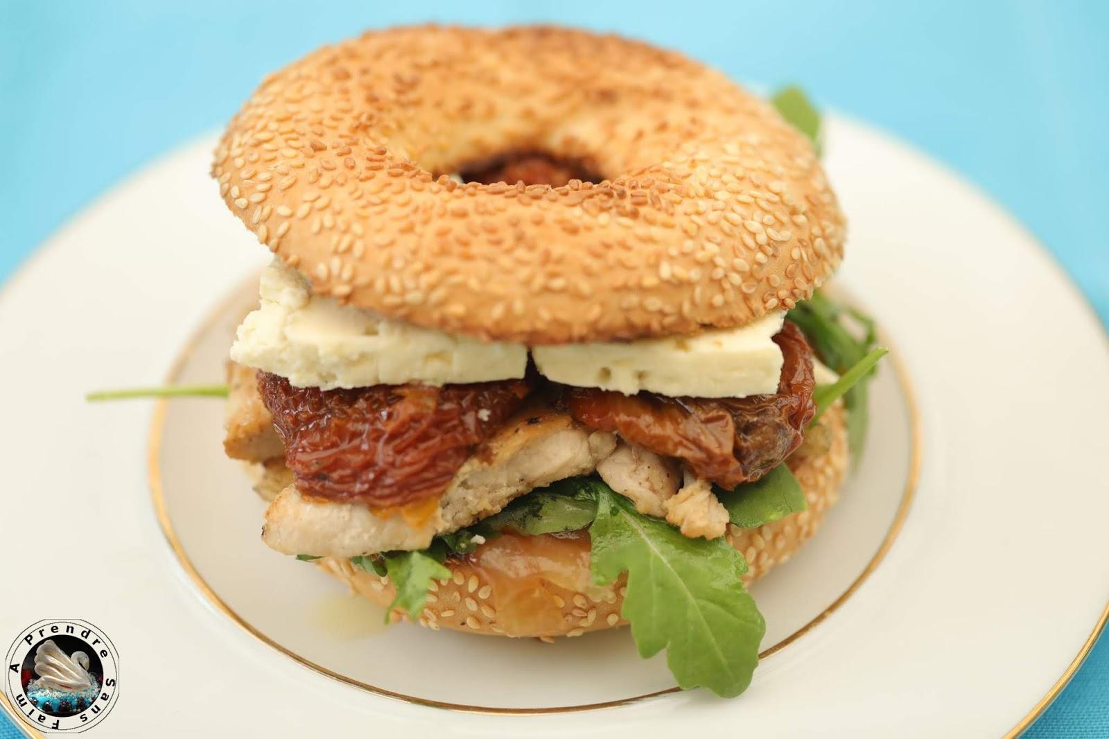 Bagel poulet Saint Agur