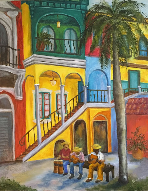 Daily Painters Of Florida Cuba Libre Oil Painting