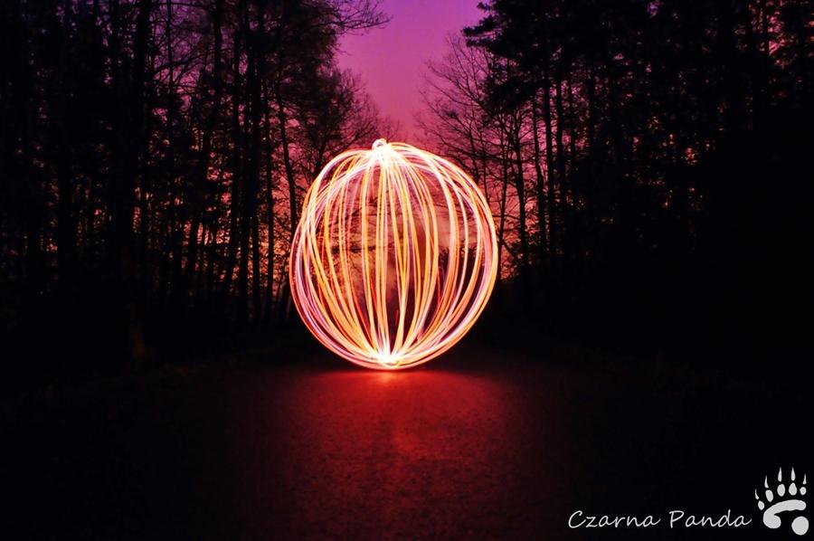 Zabawa światłem - następne próby
