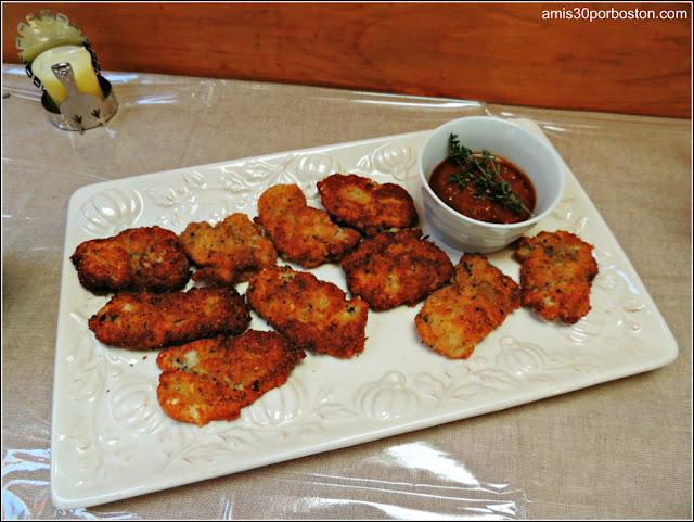 Mi Cena de Thanksgiving: Ostras Fritas con Salsa Romesco