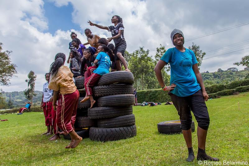 Uhuru Academy Girls Volunteering in Kenya with Freedom Global