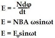 Formula alternating quantity