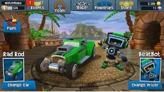 Sekarang ini Admin akan kembali membagikan kepada kalian semuanya sebuah game balapan mob Beach Buggy Racing 2 Apk v1.0.1 UPDATE Android