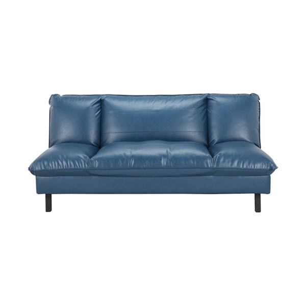 PONTUS/P Sofa Giường Da Tổng Hợp 182x114x85 cm Màu Xanh Dương