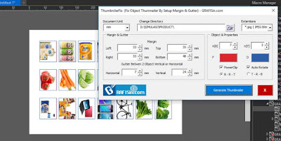 Free Macro ThumnailerFix - For Auto generate Import Image & Other into CorelDraw With grid Style & Support PowerClip