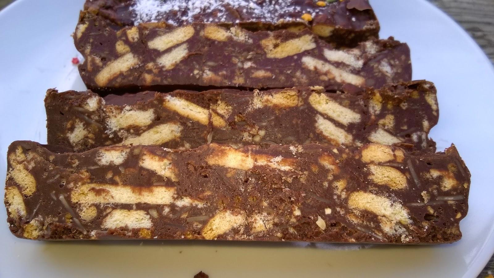 Mes Julie Gourmandises Gateau Chocolat Petits Beurre Sans Cuisson