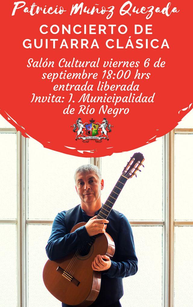 Concierto del guitarrista Patricio Muñoz Quezada en Río Negro