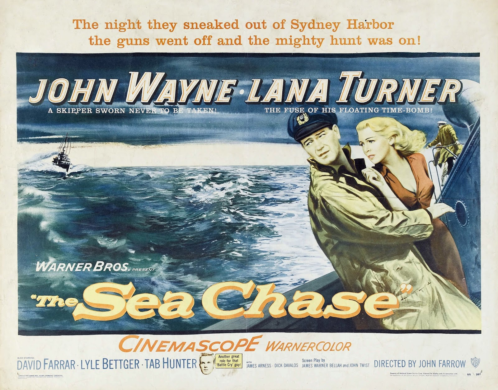 War Movie : The Sea Chase (1955)