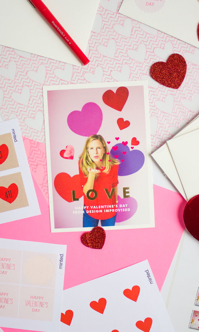 Design Improvised blog has partnered with Minted to send Valentines for its readers!