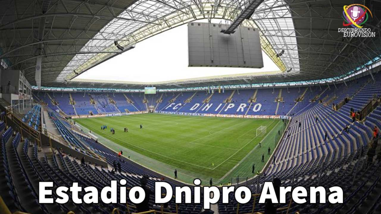 Discovering dnipro y kharkiv sedes candidatas a eurovision for Estadio arena