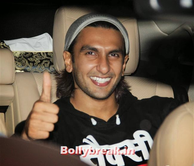 Ranveer Kapoor, Bollywood celebs Clicked in their Cars at 2 States Special Screening