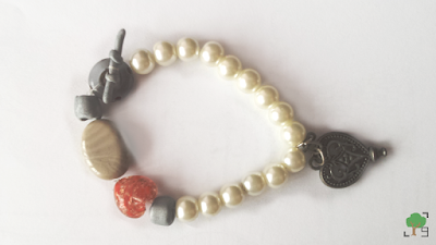 perły, perełki, biżuteria, recykling, serce, serca, pandora, krzemień pasiasty, masa termoutwardzalna