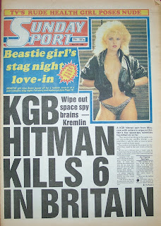 front page of the Sunday Sport newspaper from 31st May 1987