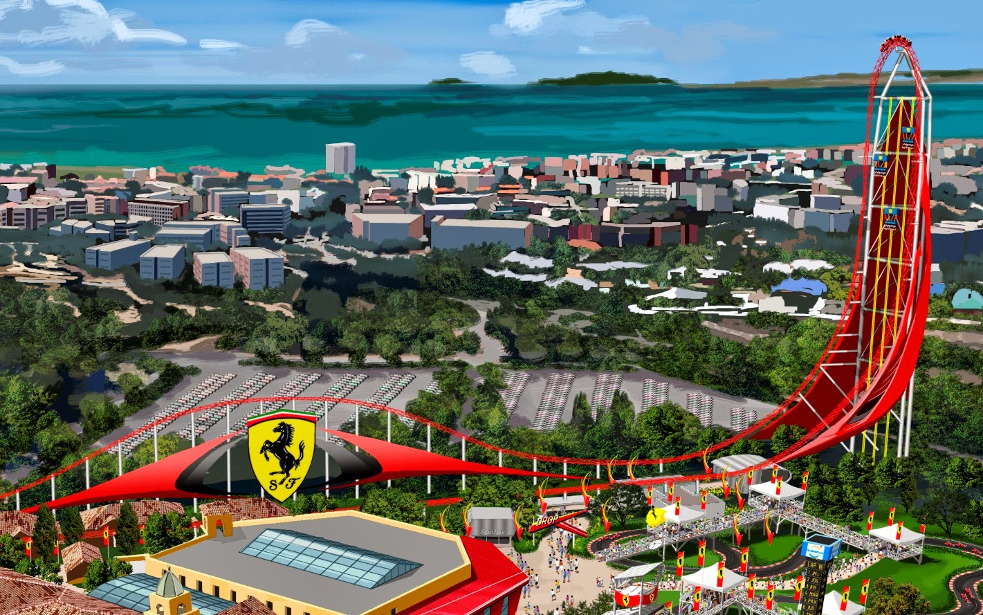 parks trip un nouveau record du monde pour ferrari land portaventura. Black Bedroom Furniture Sets. Home Design Ideas