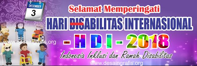 Banner Spanduk Tema Hari Disabilitas internasional (HDI) 2018 cdr